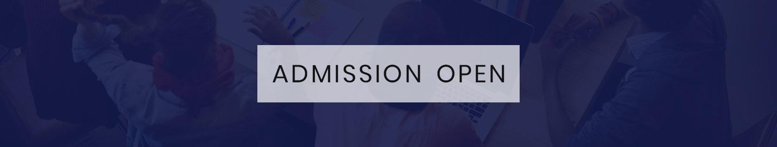 Admission banner